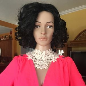 Jewelry - Custom lace & pearls bib necklace
